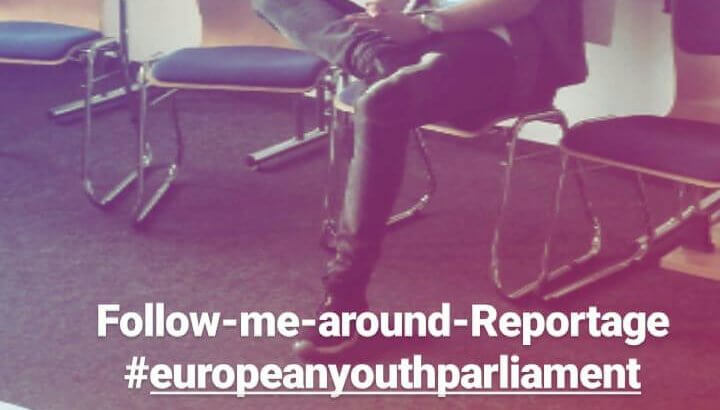 Frischen Mutes morgen um 9 Uhr: Hannes Pries beim Europäischen Jugendparlament in Augsburg